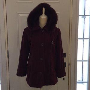 Tradition Women's Winter Coat Fox Fur Sz 12 Petite